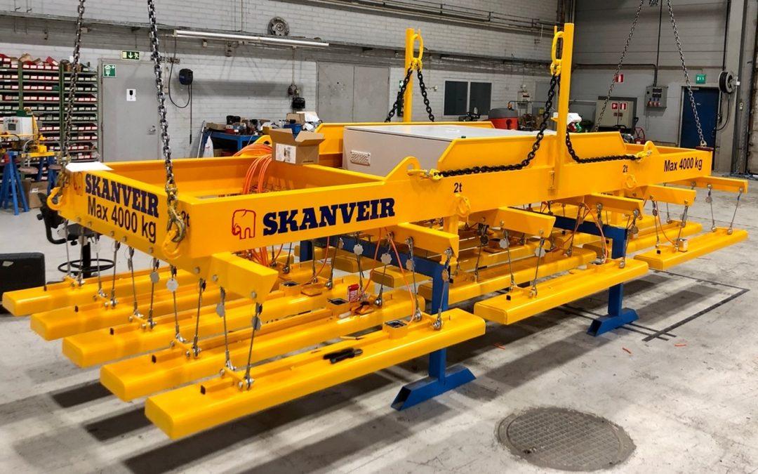 Skanveir Integra series  – Plug & play magnetic lifters for plate handling